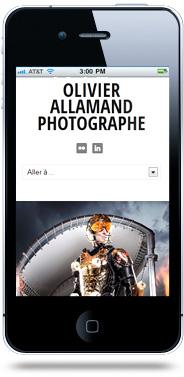 Création site internet mobile Olivier Allamand
