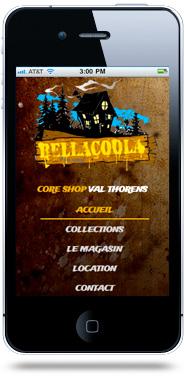 Création site internet mobile Bellacoola