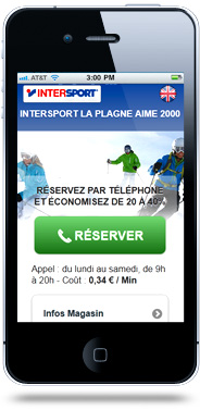 Création site internet mobile Intersport