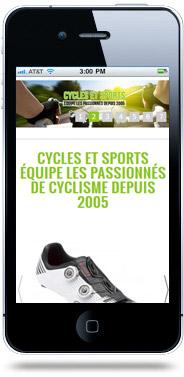 Création site internet mobile Cycles et Sports